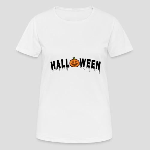 HALLOWEEN - mit Kürbis in Schwarz - Frauen T-Shirt atmungsaktiv