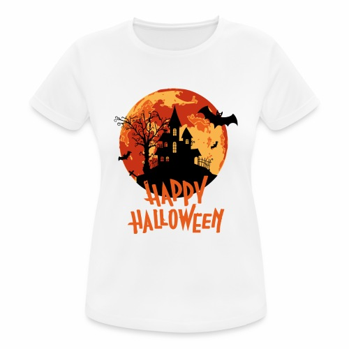 Bloodmoon Haunted House Halloween Design - Frauen T-Shirt atmungsaktiv