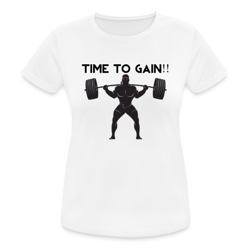 TIME TO GAIN! by @onlybodygains - Women's Breathable T-Shirt