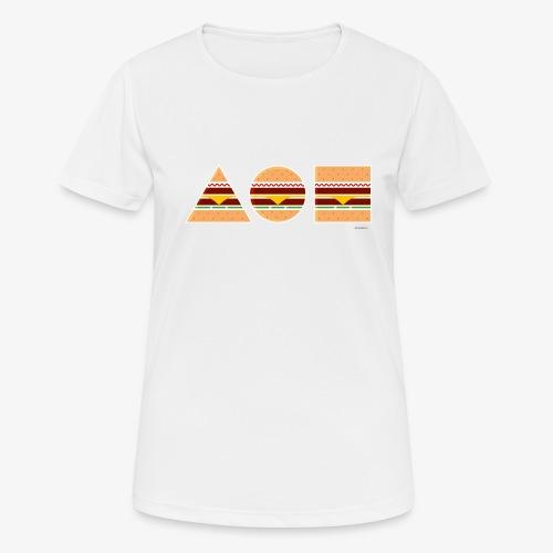 Graphic Burgers - Maglietta da donna traspirante