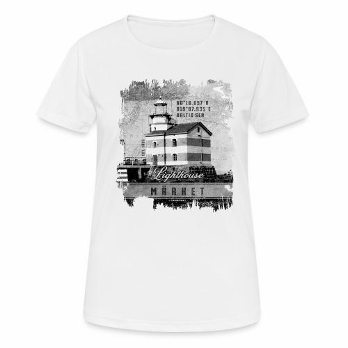 Märket majakkatuotteet, Finland Lighthouse, Harmaa - naisten tekninen t-paita