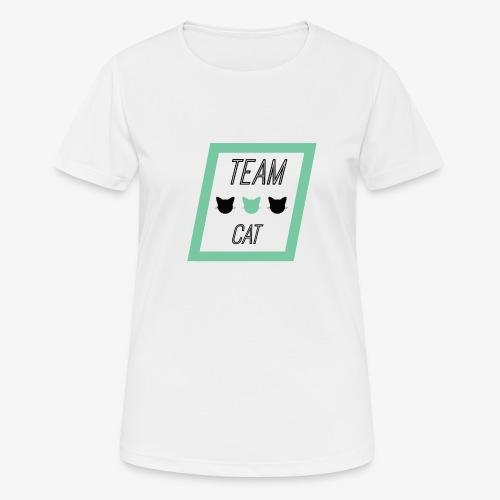 Team Cat - Slogan Tee - Koszulka damska oddychająca