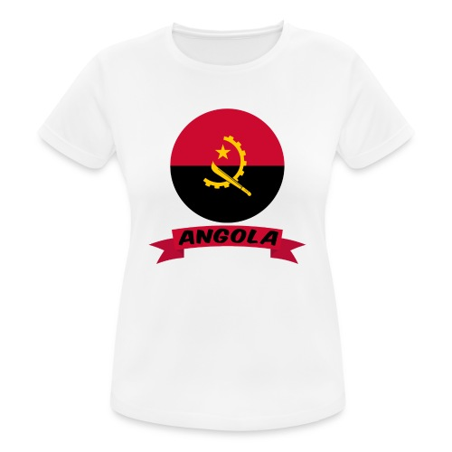 flag of Angola t shirt design ribbon banner - Maglietta da donna traspirante
