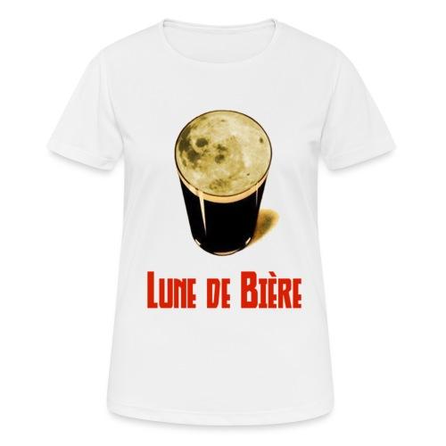 Logo Lune de Bière - T-shirt respirant Femme