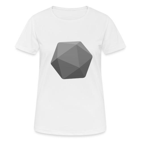 Grey d20 - D&D Dungeons and dragons dnd - naisten tekninen t-paita