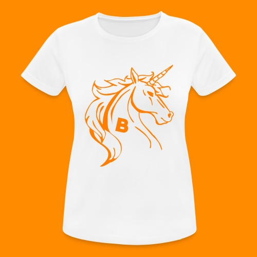 orange biodusty unicorn shirt - Vrouwen T-shirt ademend actief