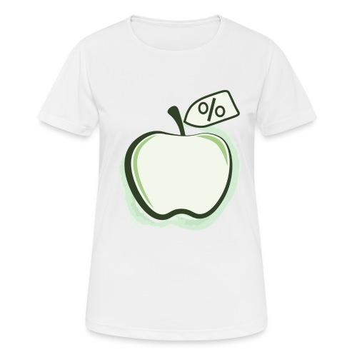 Sund på budget logo - Dame T-shirt svedtransporterende