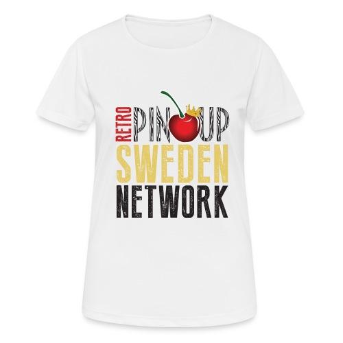 Tanktop Retro Pinup Sweden Crew utsvängd - Andningsaktiv T-shirt dam
