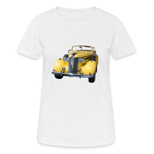 Gele klassieke auto1920 - Vrouwen T-shirt ademend actief