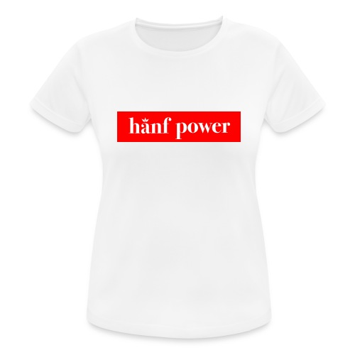 Hanf Power RED - Frauen T-Shirt atmungsaktiv