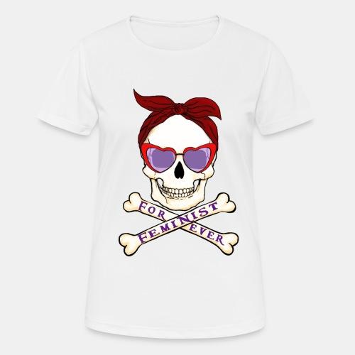Feminist skull - Camiseta mujer transpirable