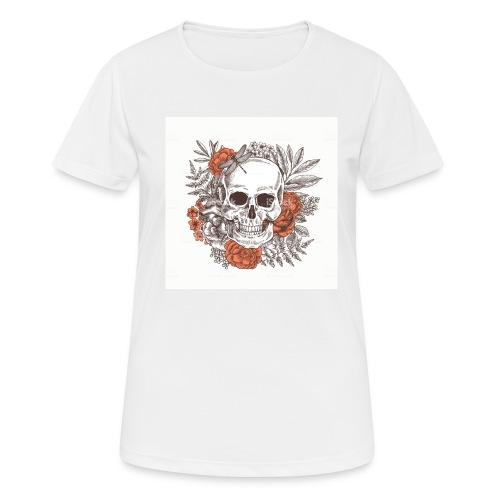 czaszka z kwiatami - Koszulka damska oddychająca