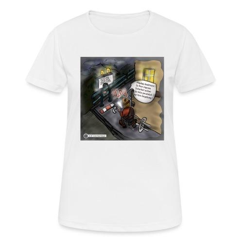 Cartoon SmartZone Ende der Ausbaustrecke - Frauen T-Shirt atmungsaktiv