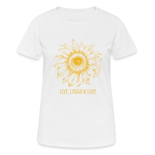 Sonnenblume Zeichnung - Frauen T-Shirt atmungsaktiv