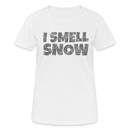 I Smell Snow (Dunkelgrau) Schnee, Wintersport, Ski - Frauen T-Shirt atmungsaktiv