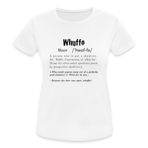 Whuffo black - naisten tekninen t-paita