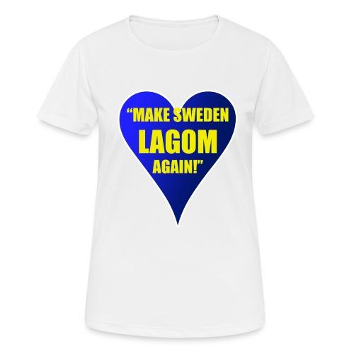 Make Sweden Lagom Again - Andningsaktiv T-shirt dam