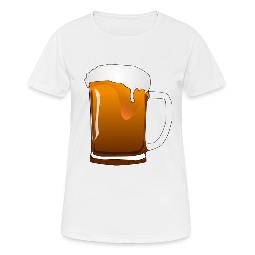 Cartoon Bier Geschenkidee Biermaß - Frauen T-Shirt atmungsaktiv