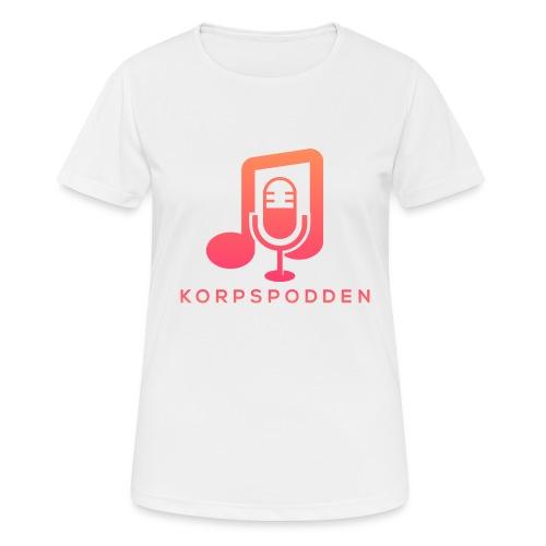 Korpspodden - Pustende T-skjorte for kvinner