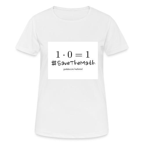 #SaveTheMath_1 - Maglietta da donna traspirante