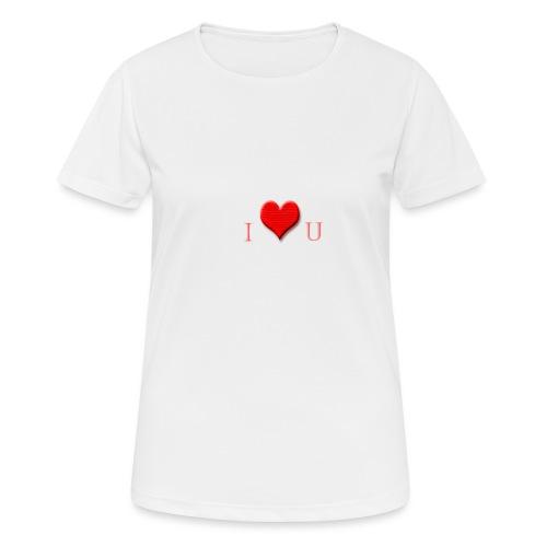 love - Vrouwen T-shirt ademend actief