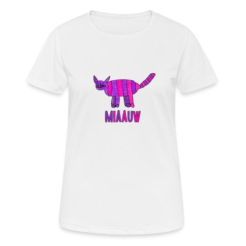 miaauw, paarse poes - vrouwen T-shirt ademend