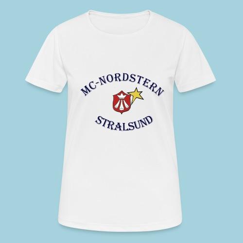 MC Nordstern Schrift gebogen - Frauen T-Shirt atmungsaktiv