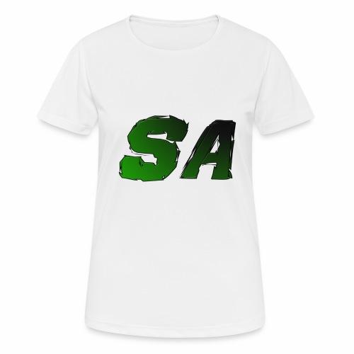 Grön SA Logo - Andningsaktiv T-shirt dam