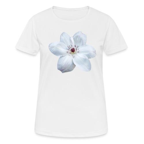 Jalokärhö, valkoinen - naisten tekninen t-paita