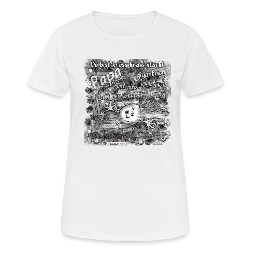 Kreativ Studio Nuding Big heavenly Daddy grau - Frauen T-Shirt atmungsaktiv