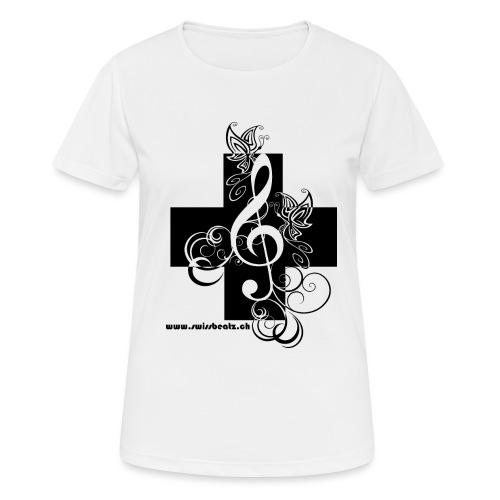 Swiss Beatz Logo non L - Frauen T-Shirt atmungsaktiv