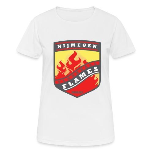 Hoodie Black - Red inner contrast - Vrouwen T-shirt ademend actief