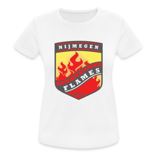 trainingsjack rood - vrouwen T-shirt ademend