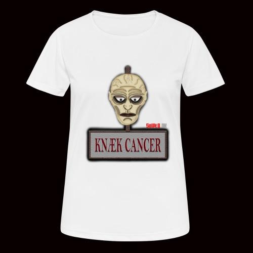 Knæk Cancer Kollektion ! - Dame T-shirt svedtransporterende