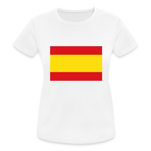 vlag van spanje - vrouwen T-shirt ademend