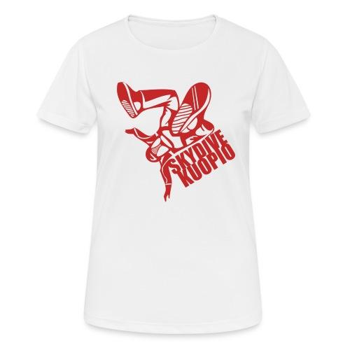 KLU logo red - naisten tekninen t-paita