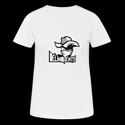 Delinquents Hvidt Design - Dame T-shirt svedtransporterende