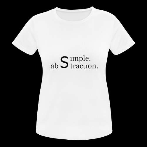 simple. abstraction. logo - Frauen T-Shirt atmungsaktiv