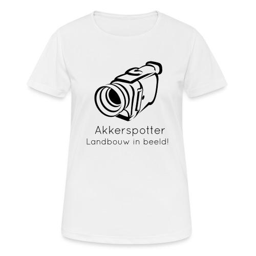 Logo akkerspotter - Vrouwen T-shirt ademend actief