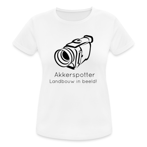 Logo akkerspotter - vrouwen T-shirt ademend