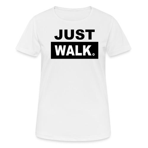 JUST WALK vrouwen zw - vrouwen T-shirt ademend