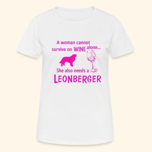 Wine&Leonberger - Andningsaktiv T-shirt dam