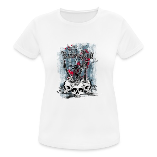 rock n roll skulls - Vrouwen T-shirt ademend actief