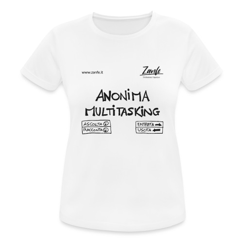 Anonima Multitasking (Nero) - Maglietta da donna traspirante