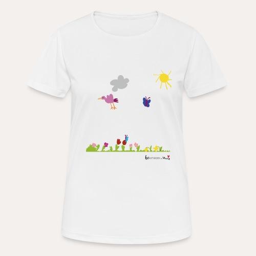 Blumenwiese von Marie - Frauen T-Shirt atmungsaktiv