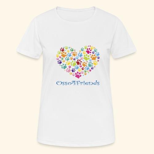 CUOREZAMPE - Maglietta da donna traspirante