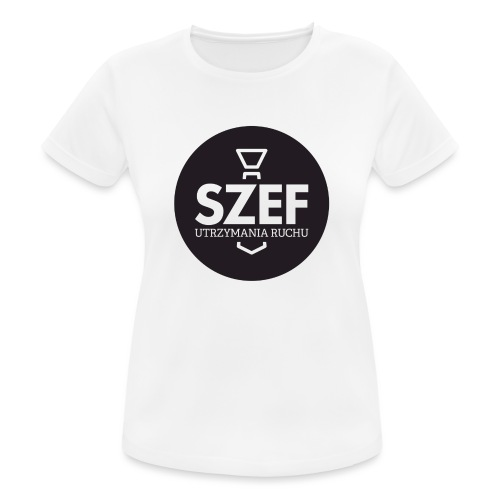 Logo-szef-utrzymania-ruchu_ok_net_black - Koszulka damska oddychająca