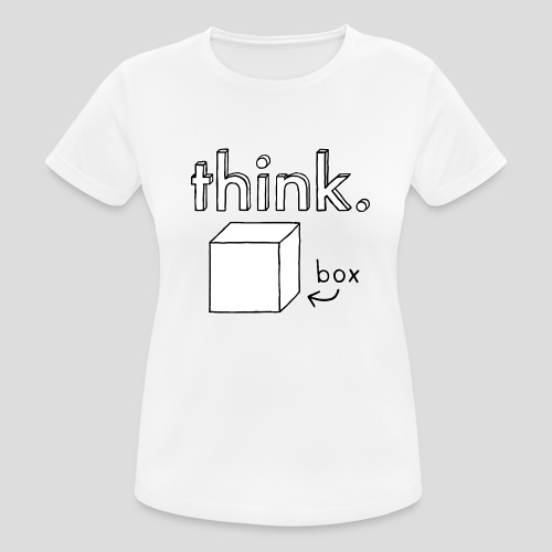 Think Outside The Box Illustration - Women's Breathable T-Shirt
