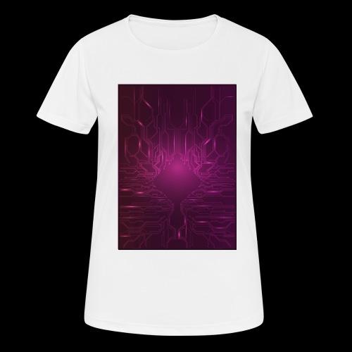 ElecGlow - Dame T-shirt svedtransporterende