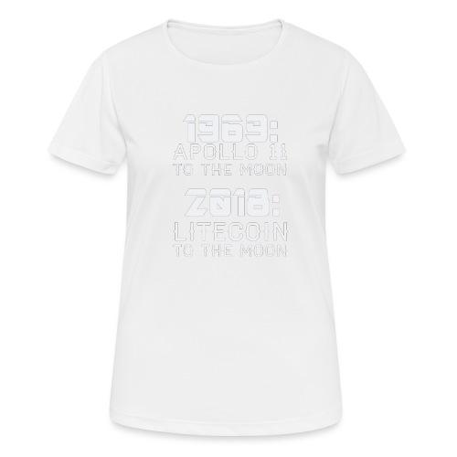 2018 Litecoin to the Moon - Frauen T-Shirt atmungsaktiv